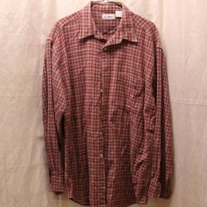 L.L. Beans long sleeved plaid button down shirt